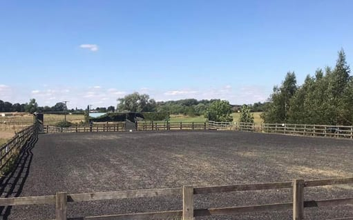 Floodlit all - weather menage2 | wood farm livery facilities | wood farm livery